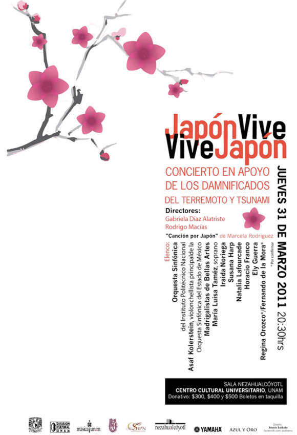 Concierto a beneficio de Japon