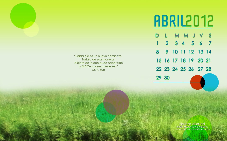 Descarga El Wallpaper Del Mes De Abril Clauzen Villarreal